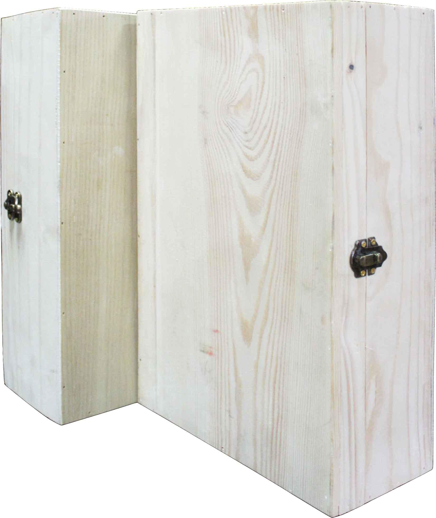 Hộp gỗ đôi nắp mở