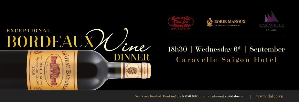 Tiệc Rượu Bordeaux Đẳng Cấp