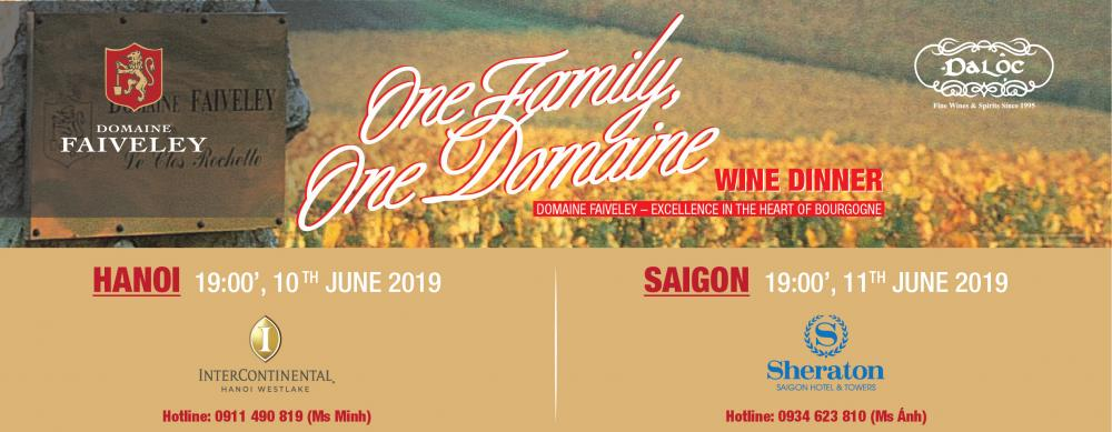 ONE FAMILY, ONE DOMAINE- Domaine Faiveley Wine Dinner