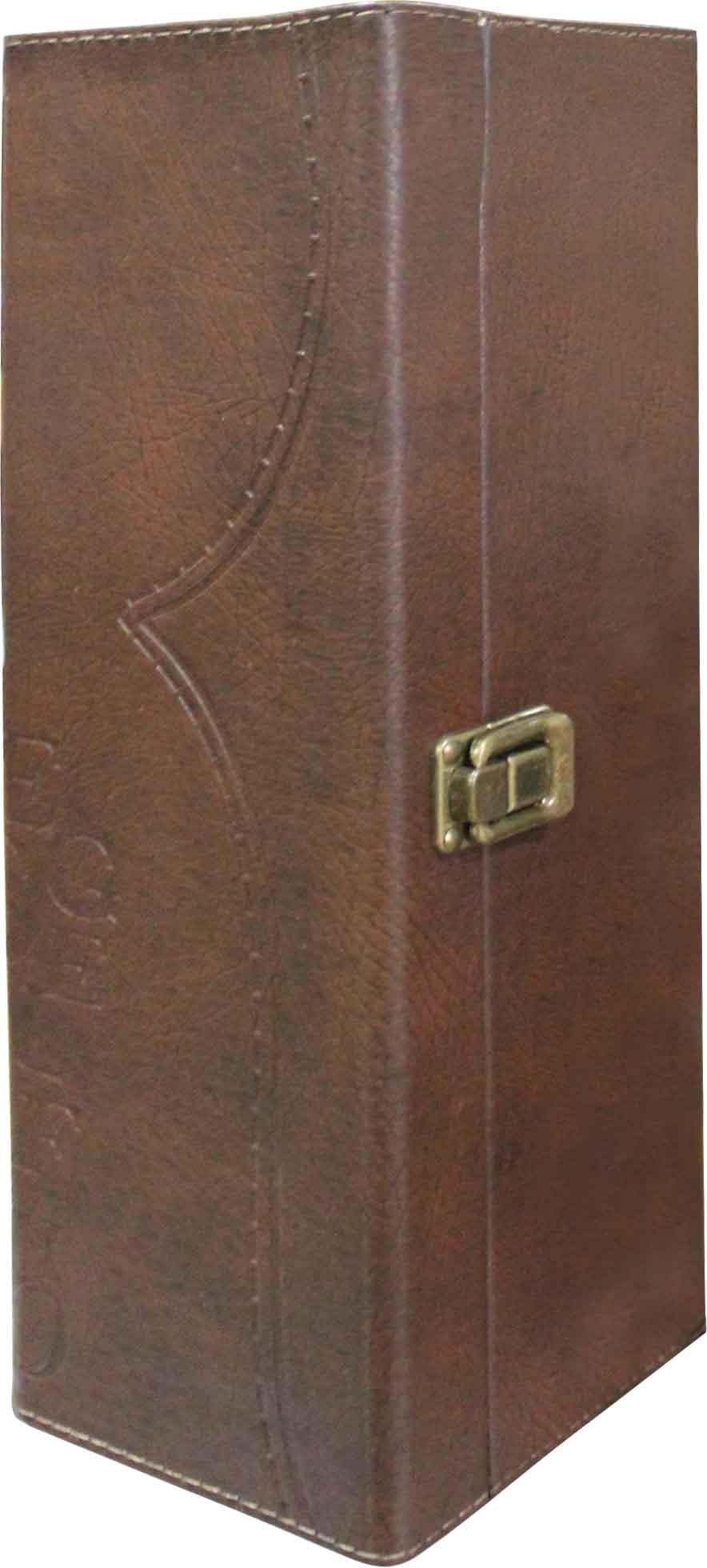 Luxury single leather box with handle